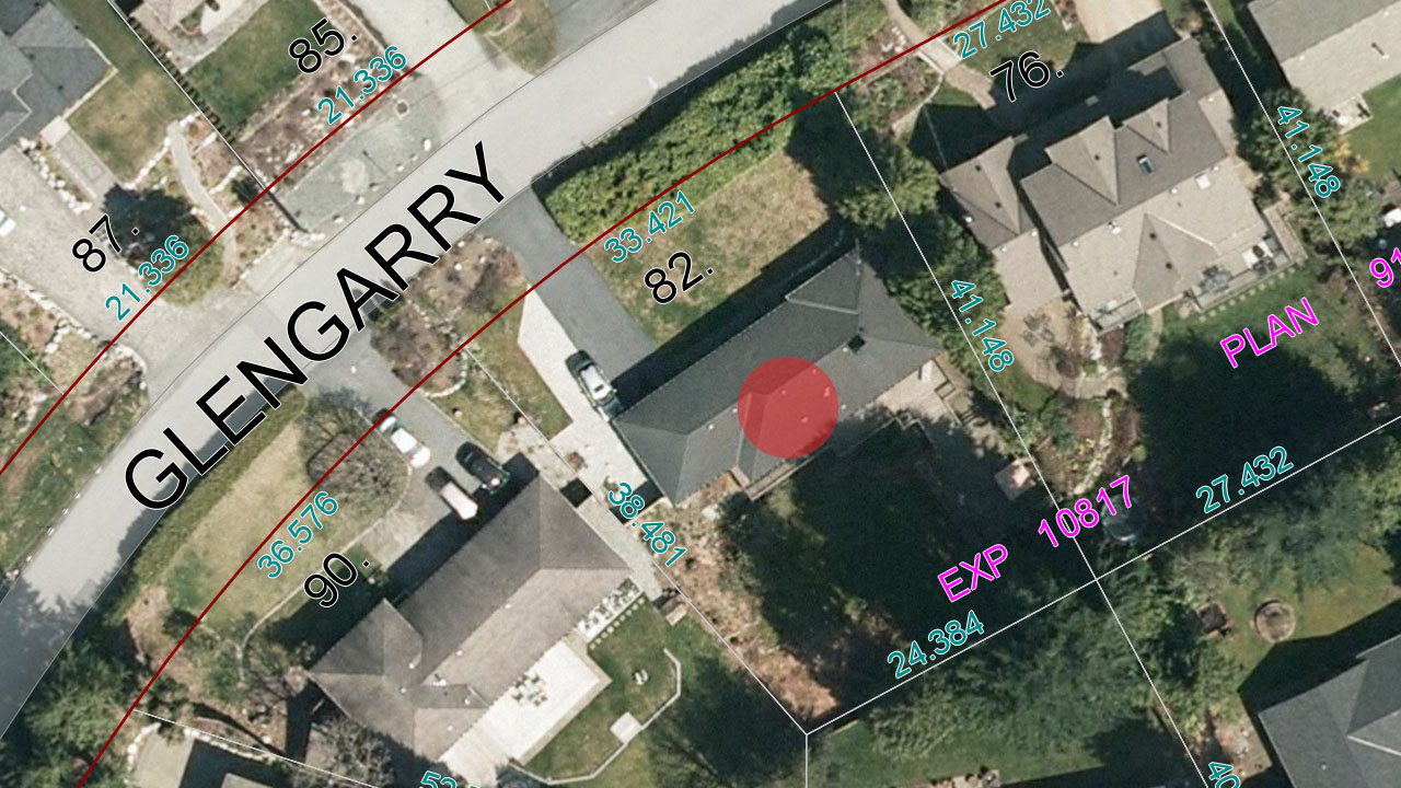 12,547 sq. ft. lot with bright/sunny, South and Southeast exposure.
