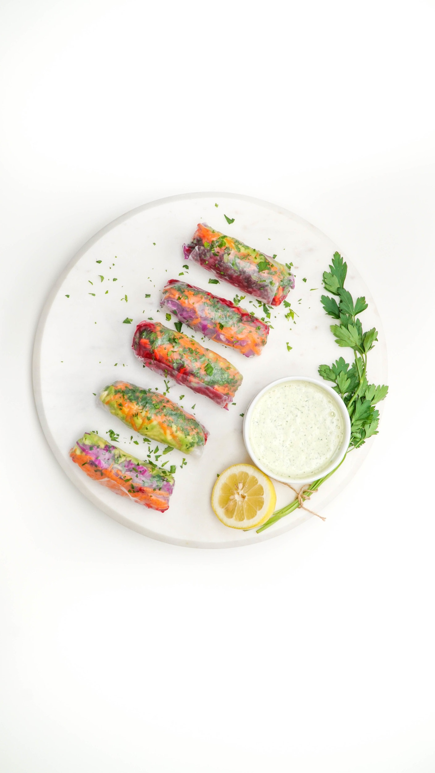 saladmenu raw vegetable rolls