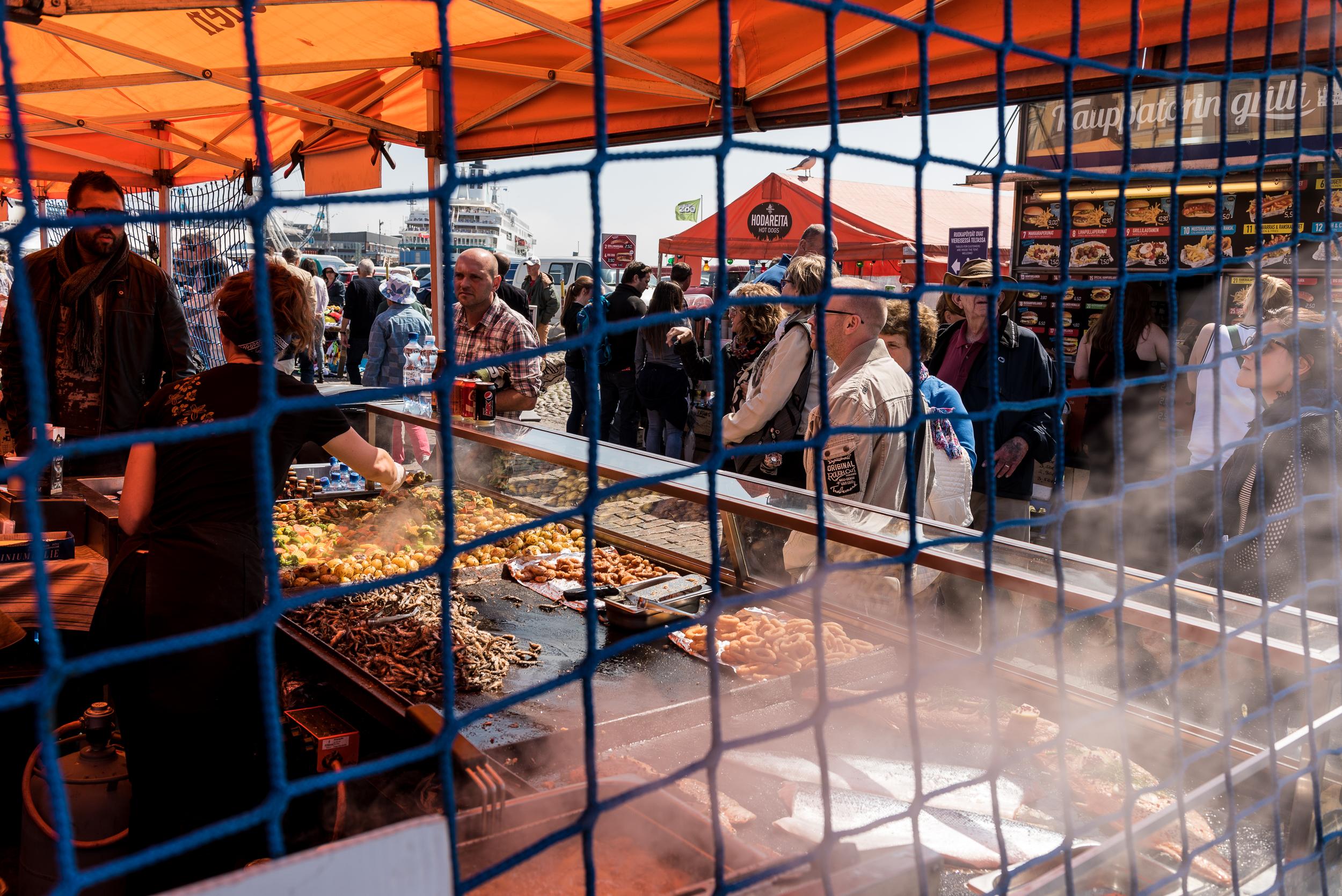 Market in Helsinki, Finnland