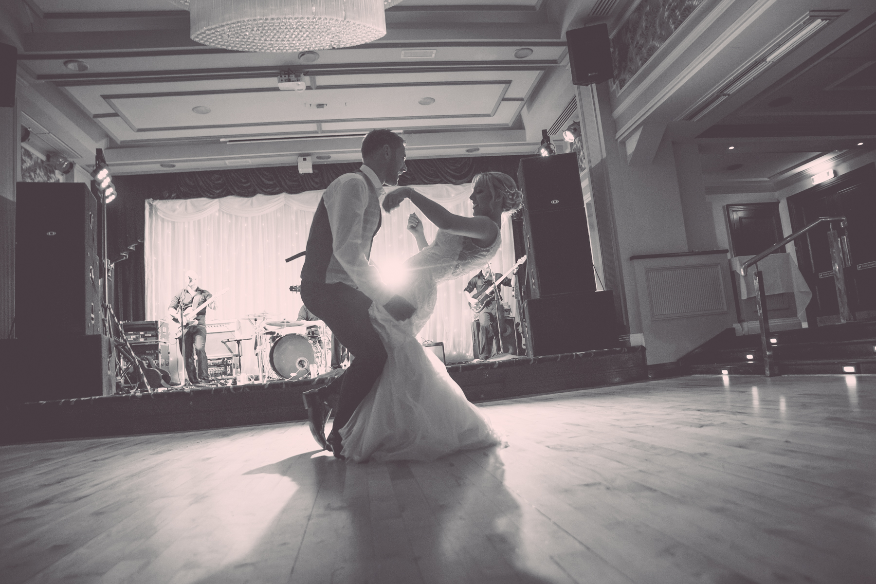 MAGS & DAVE dancing on their wedding night