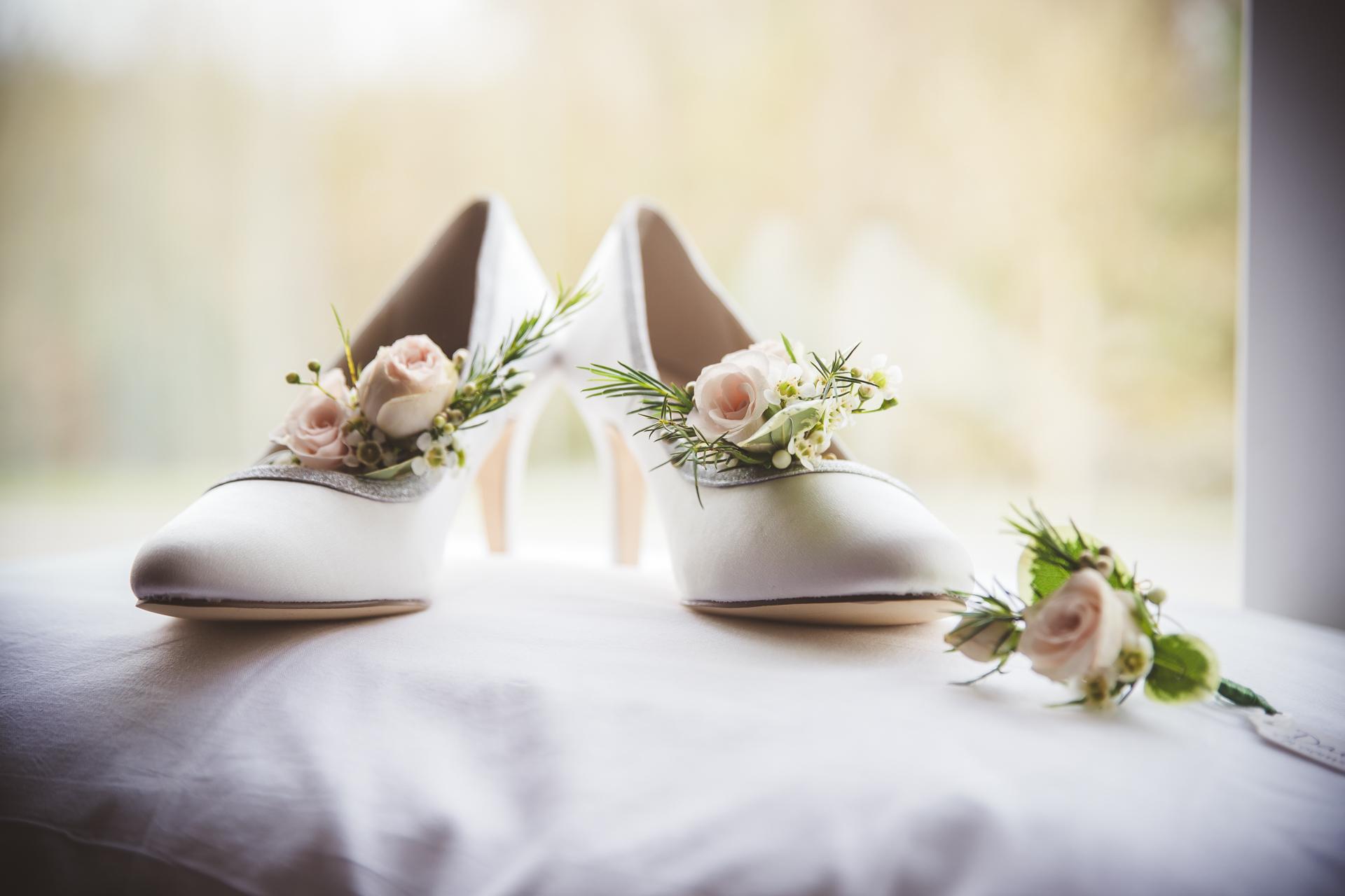 Samantha's wedding shoes