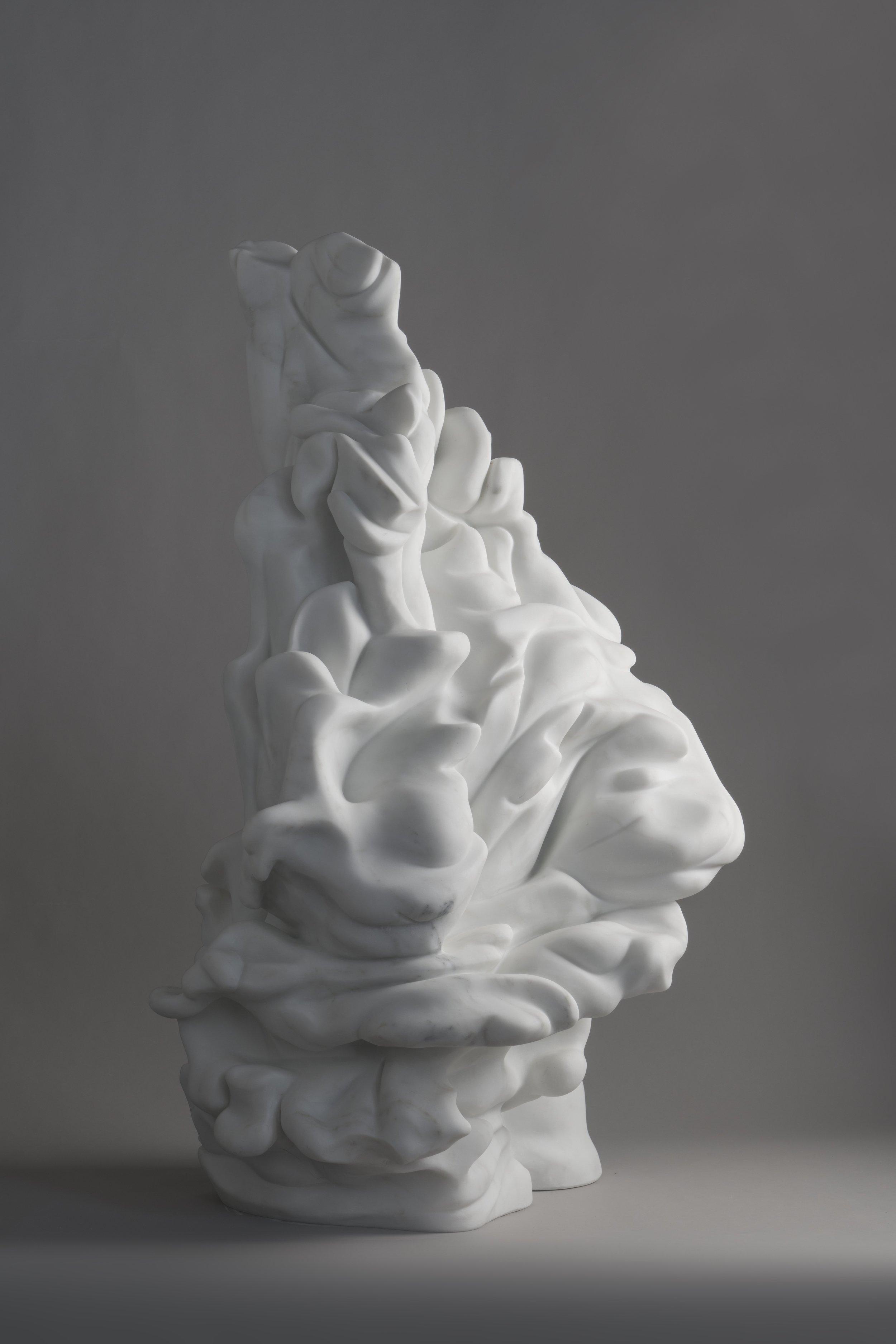 tutelar, 2018, statuario marble, 95 x 50 x 50 cm