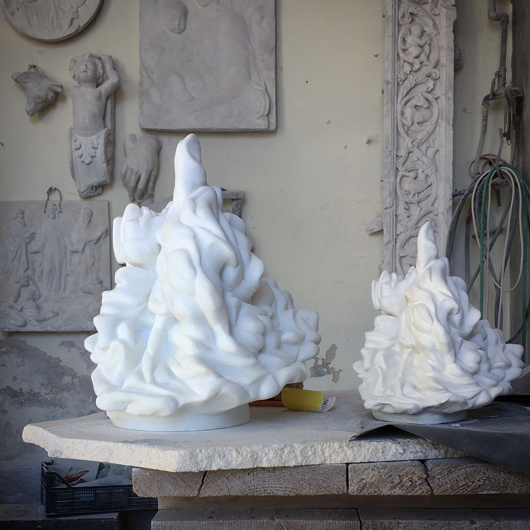 i want to be a sufi dancer, 2017, statuario marble (private collection)