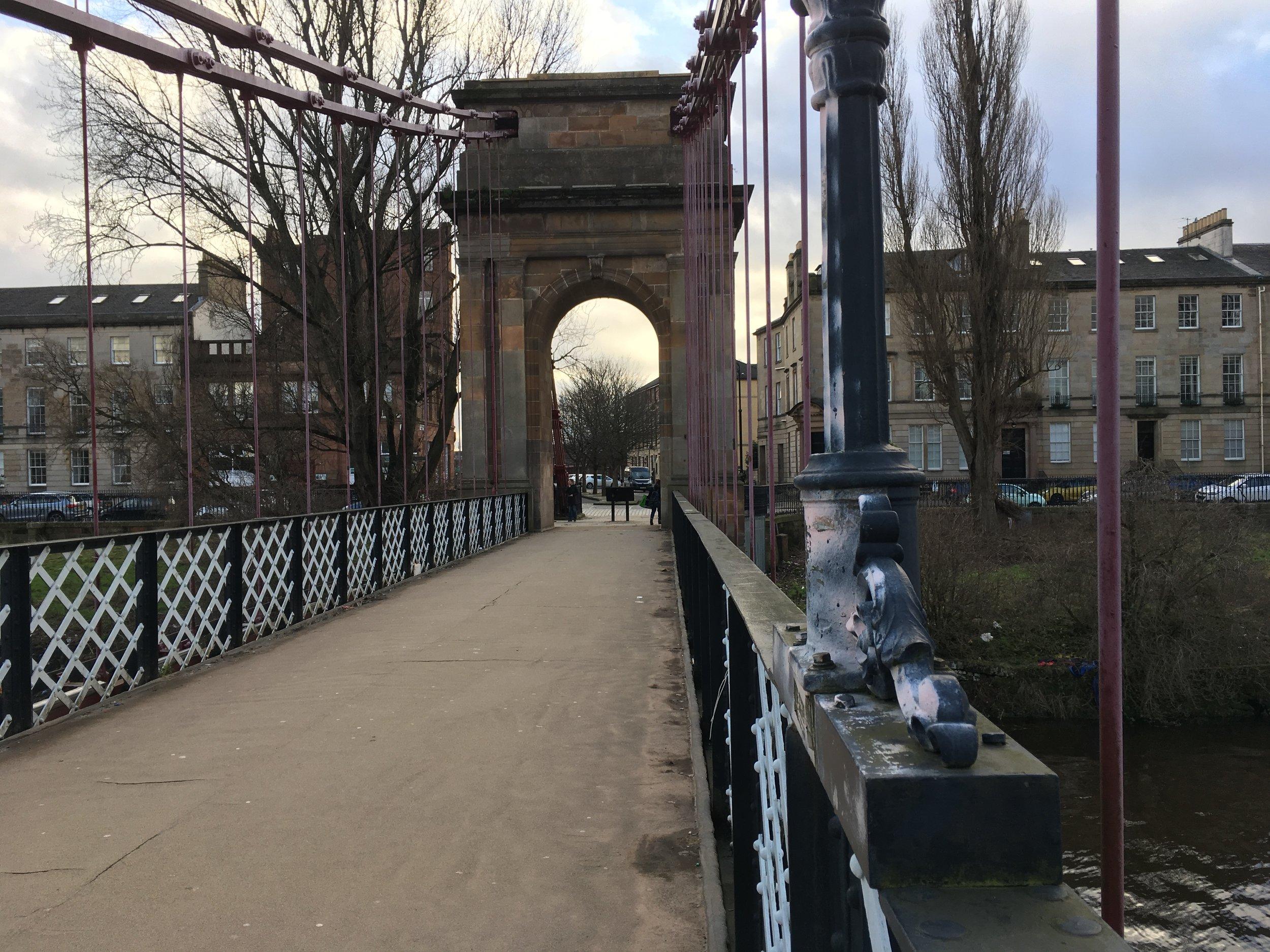 Location-scouting bridges in Glasgow