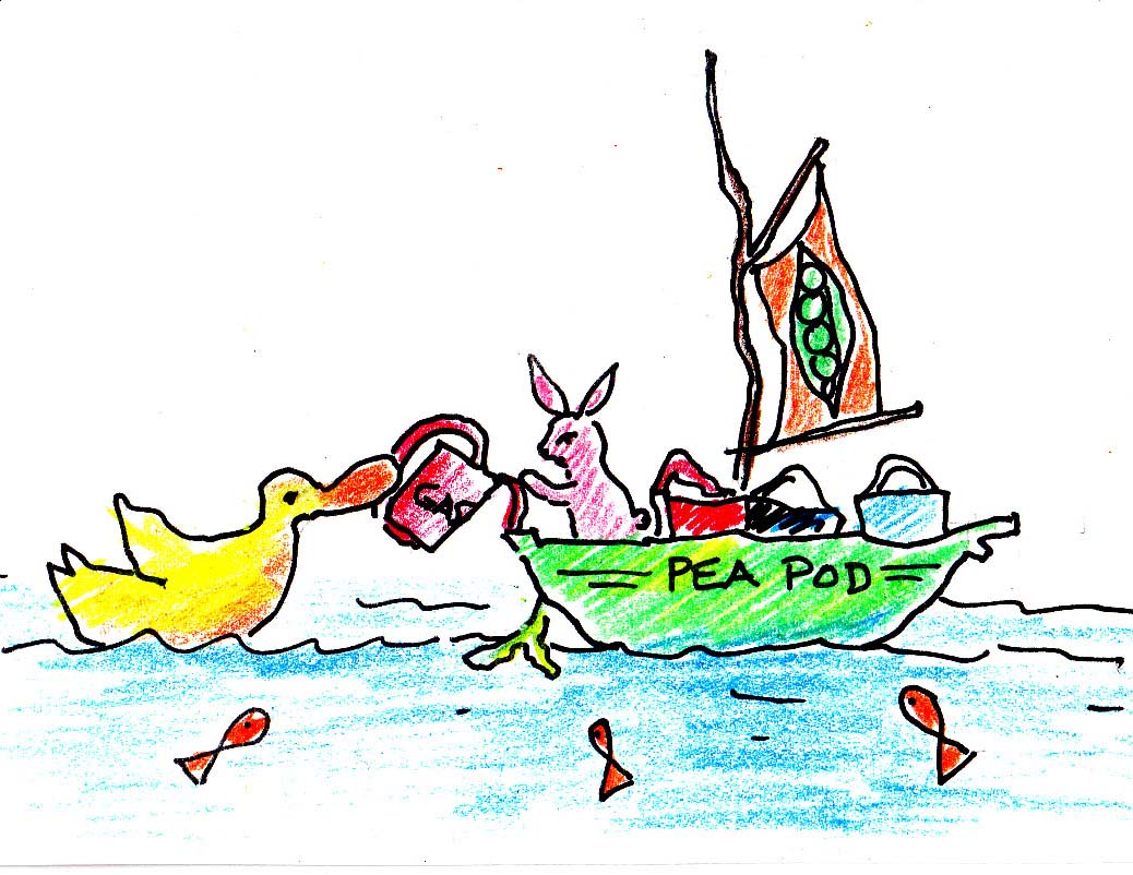 The first Sweet Pea boat... it uses gasoline!! Yikes.