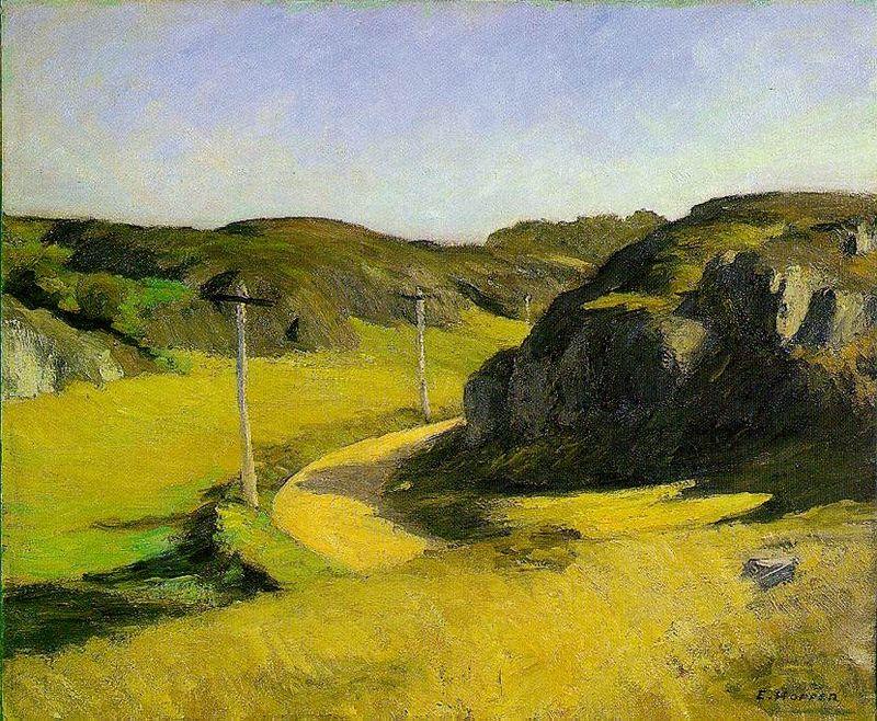 Road in Maine  (1914) by Edward Hopper