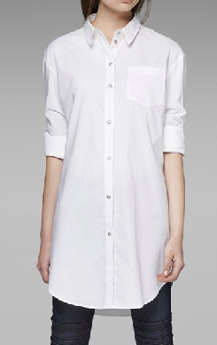 oversized white button down
