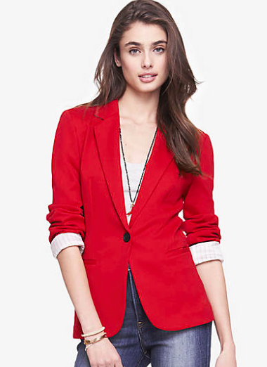 red blazer for petite sizes
