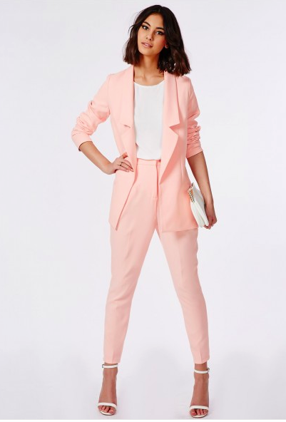 pink pantsuit for petite sizes