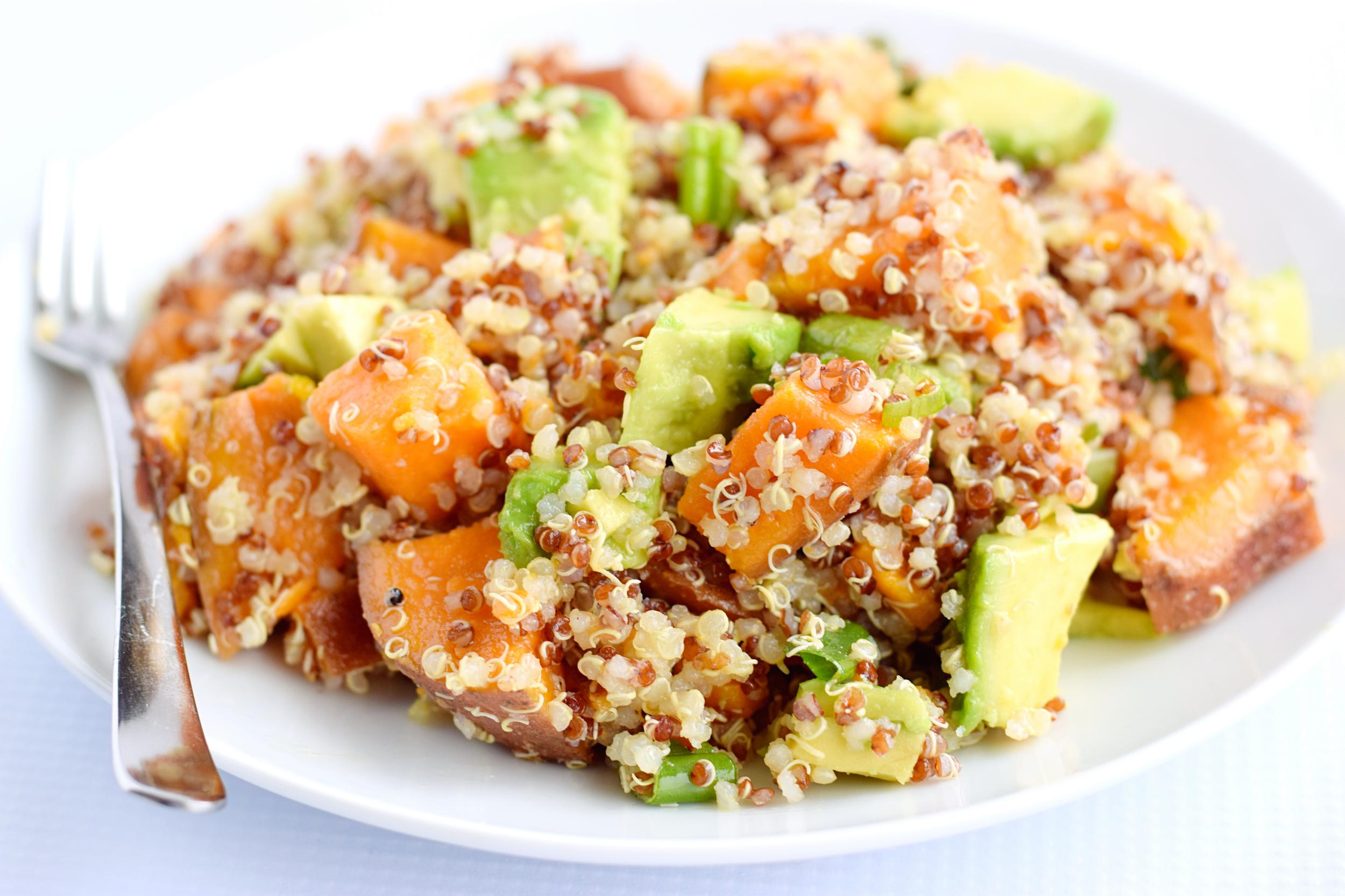 quinoa avocado sweet potato salad