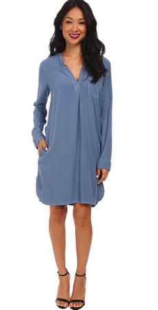Blue Jersey Shirtdress