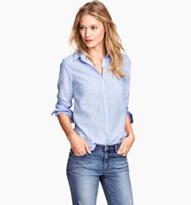 blue cotton shirt