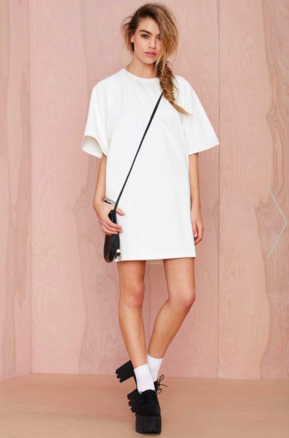 Nasty Gal White Tee Dress