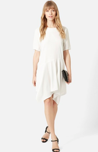 Topshop Draped white dress