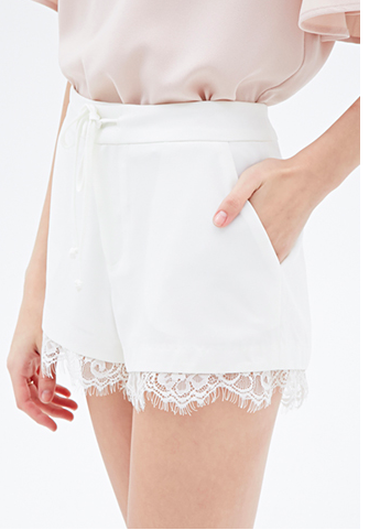 Forever 21 Lace white shorts