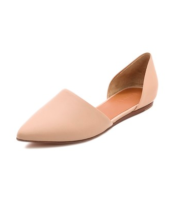 Vince pointy nude flats