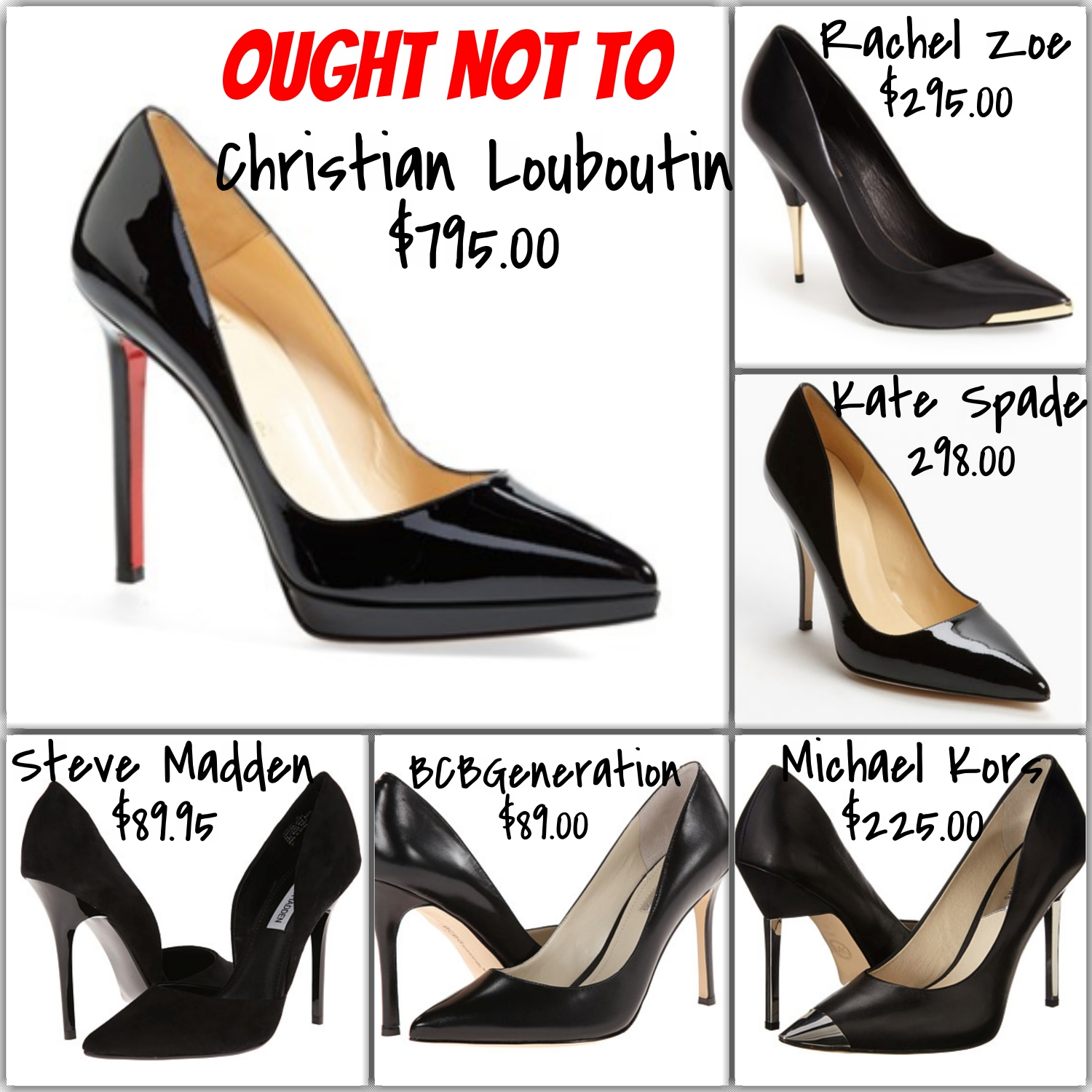 pointed toe black pumps - expensive and affordable options