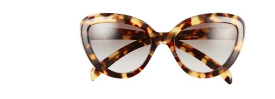 Prada tortoise cat eye sunglasses