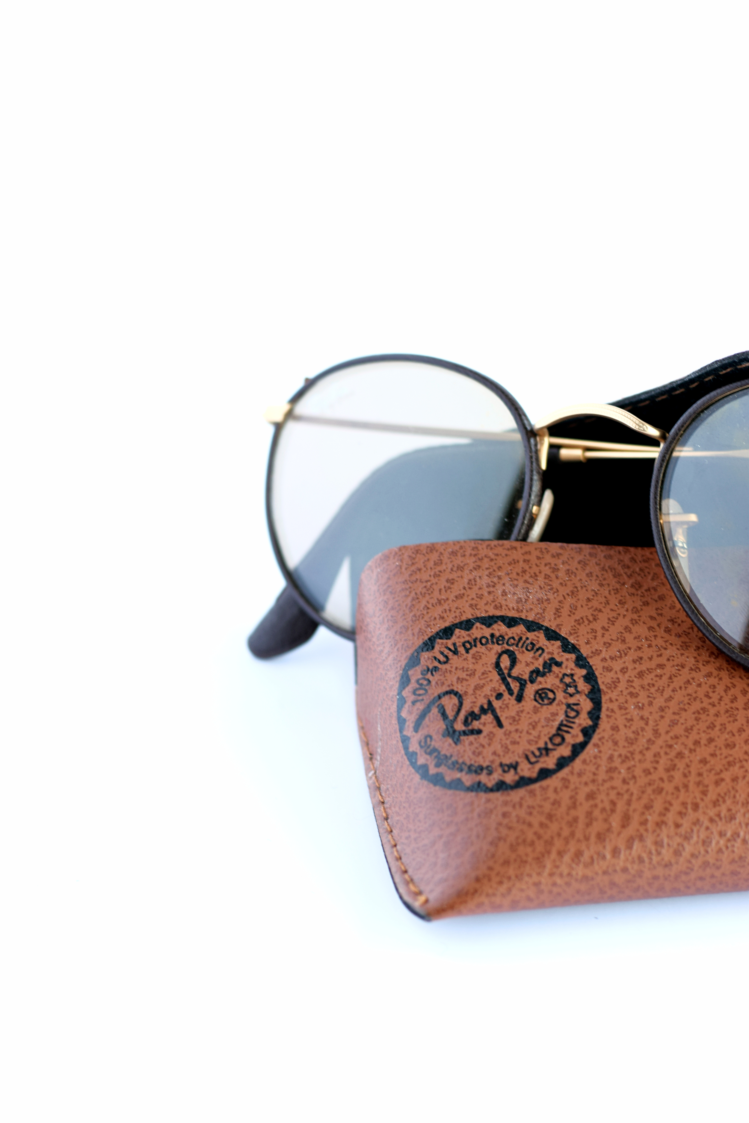 round brown ray bans
