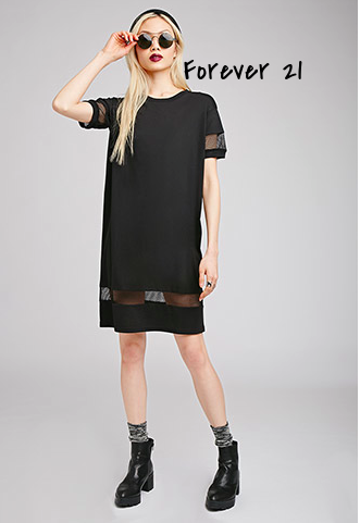 Forever 21 black dress with sheer inserts