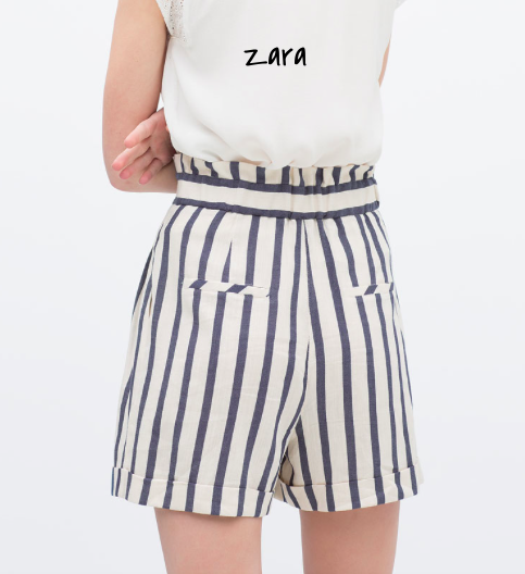 ZARA striped sailor shorts