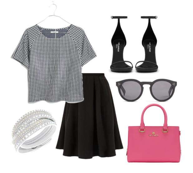 Gigham outfit idea