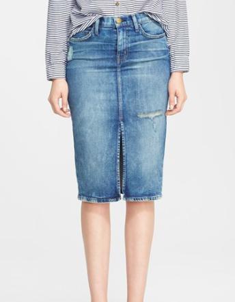 Nordstrom knee length denim skirt