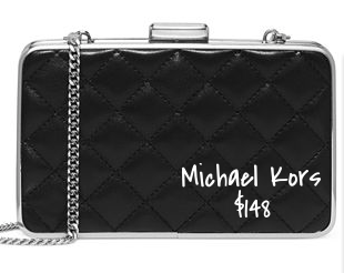 Michael Kors quilted box clutch