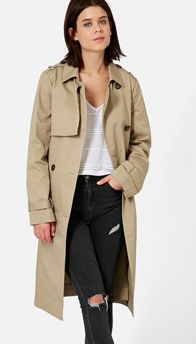 Topshop Long trench coat