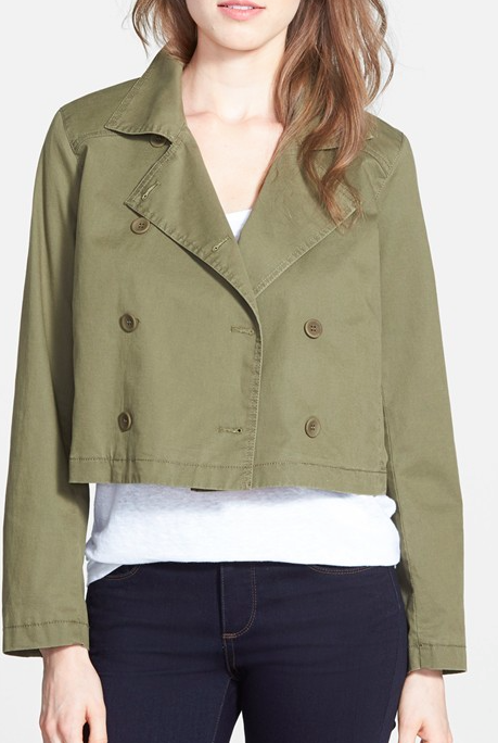 Eileen Fisher short double breasted jacket