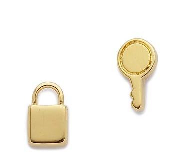 Marc Jacobs lock and key earrings