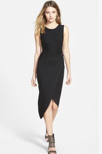 ASTR knotted black dress
