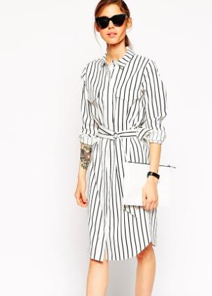 Asos striped shirtdress