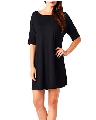 Basic Round Neck Short Sleeves Mini Dress