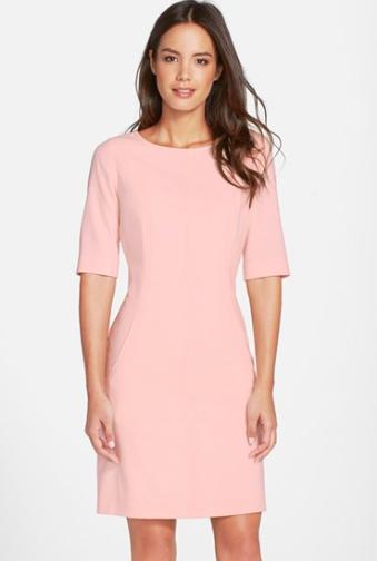 Tahari A-line pink dress