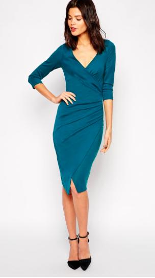 Asos midi wrap dress