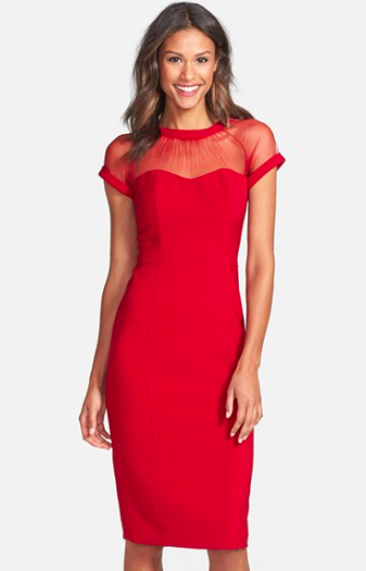 Maggy London Red Pencil Dress