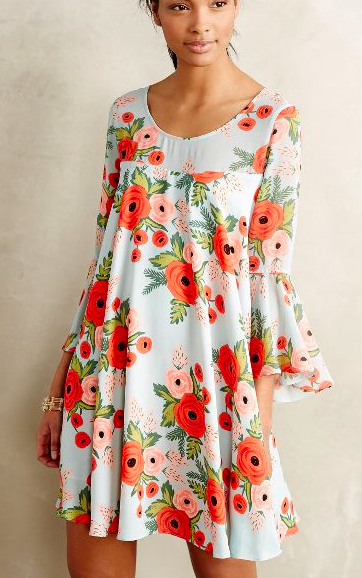 Antropologie floral swing dress
