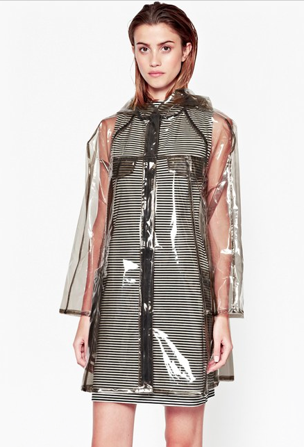 French Connection Sheer Raincoat