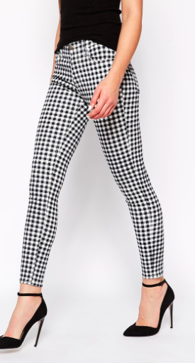 French Connection Gingham pants