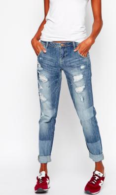 Asos ripped boyfriend jeans