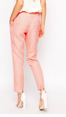Asos pink suit pants