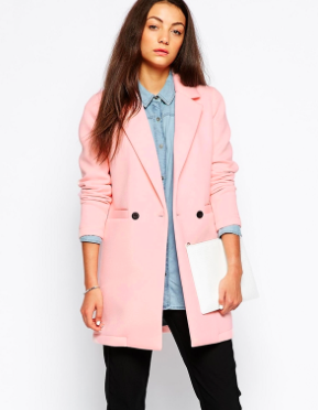 Asos pink double breasted jacket