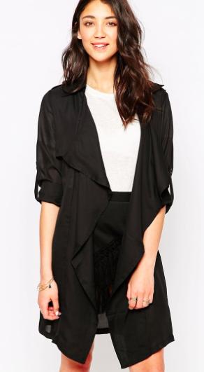Asos black duster coat