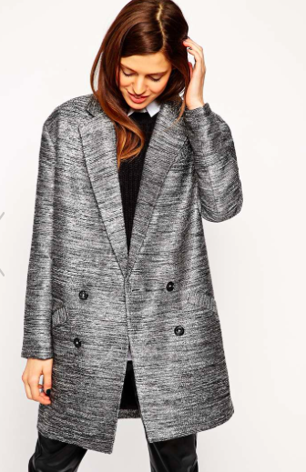 Asos metallic coat