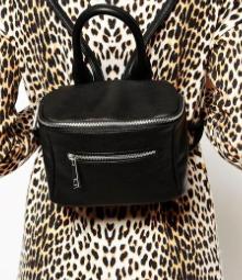 Asos black mini backpack
