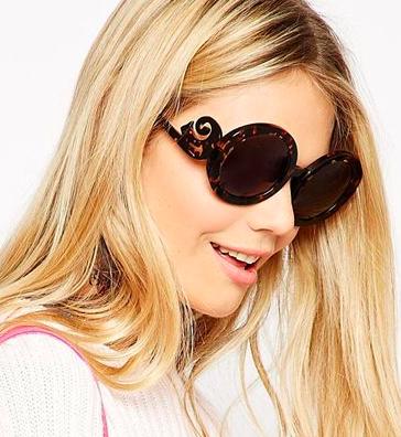 Wildfox round oversized sunglasses