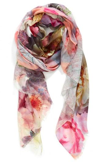 Floral summer scarf