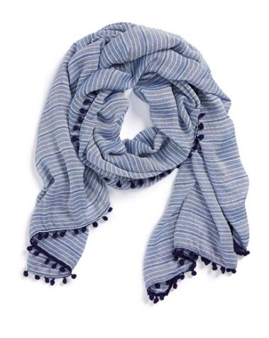 halogen striped scarf