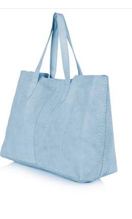 Topshop blue tote bag